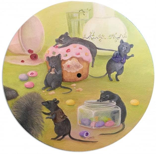 Часы мышки