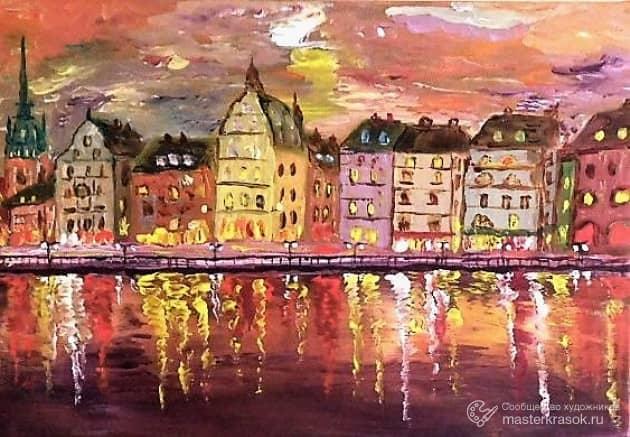 Закат в Стокгольме