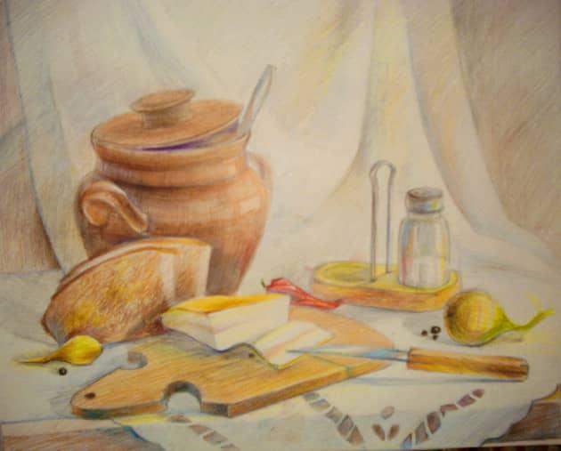 Натюрморт с салом