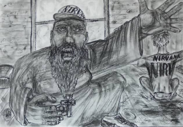 Nirvana_рассказ_ Верую, художник Алекс Кожевников