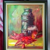 Пиво, раки (2), художник Светлана Храмцова