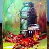 Пиво, раки (1), художник Светлана Храмцова