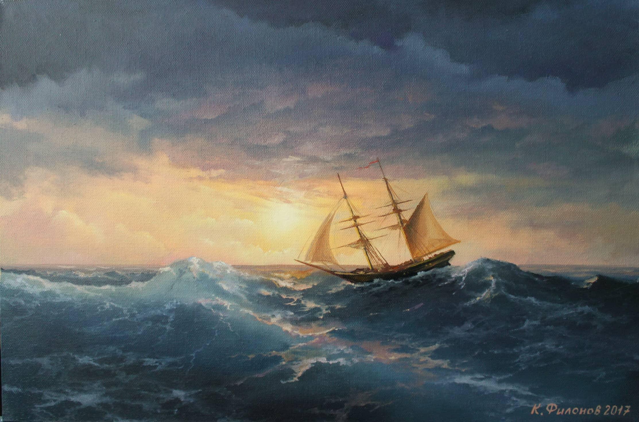 Море.Закат