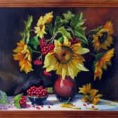 Букет подсолнухов (1), художник Валерий
