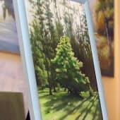 Деревце на краю леса (3), художник Валерий