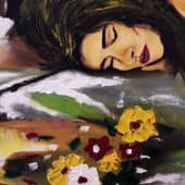 Спящая девушка (1), художник Mansur Mirzoev