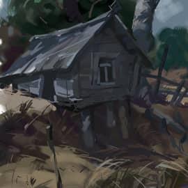 Дом над речкой