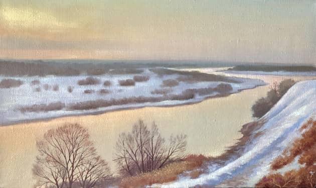 Зимний вечер над Ахтубой