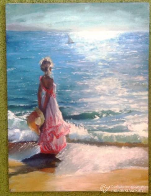 У моря(копия), художник Русских Екатерина