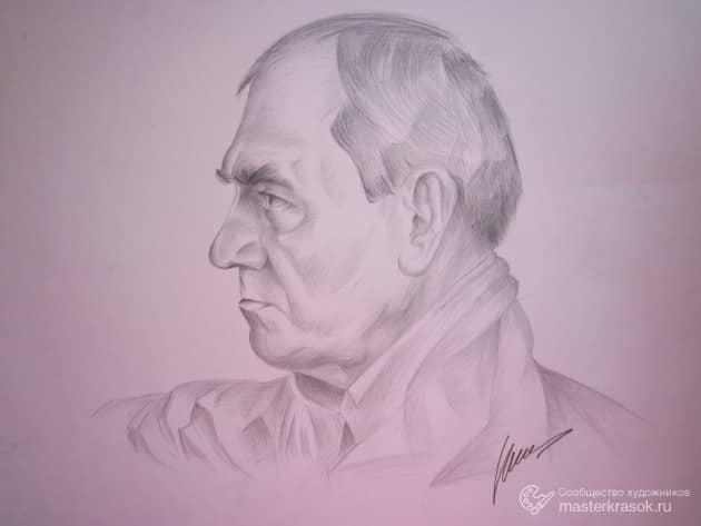 Рисунок мужской головы