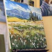 Цветочное поле (1), художник Валерий