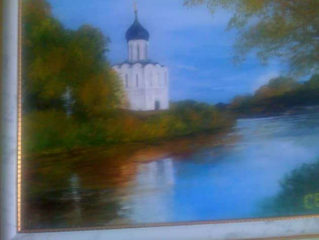 церковь Покрова на Нерли осенью