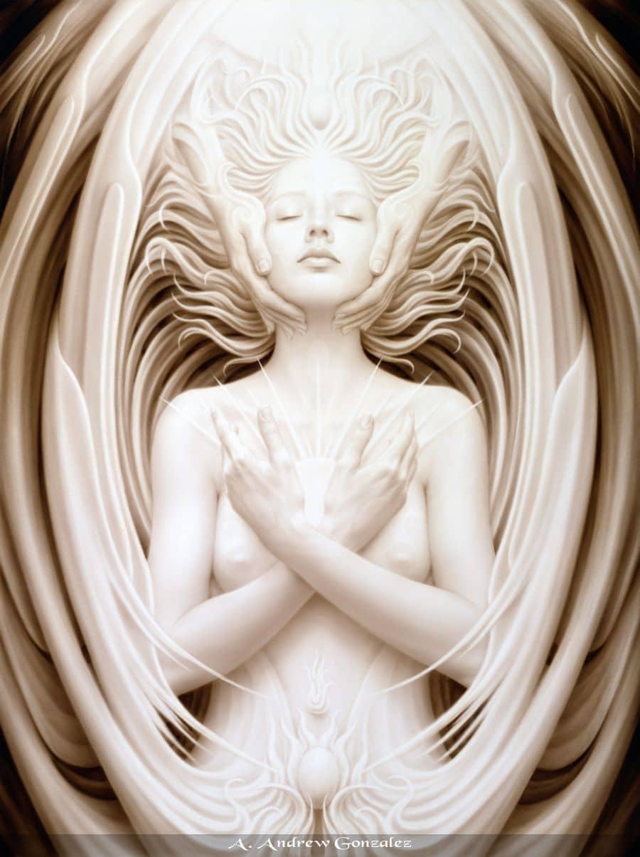 Эзотерическая рисованная скульптура Эндрю Гонсалеса