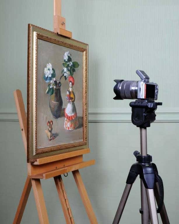 Как фотографировать картины.