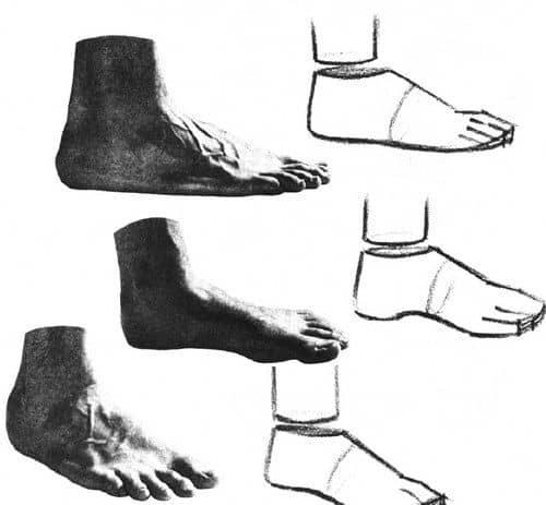 Как рисовать ступни: разбираем ошибки