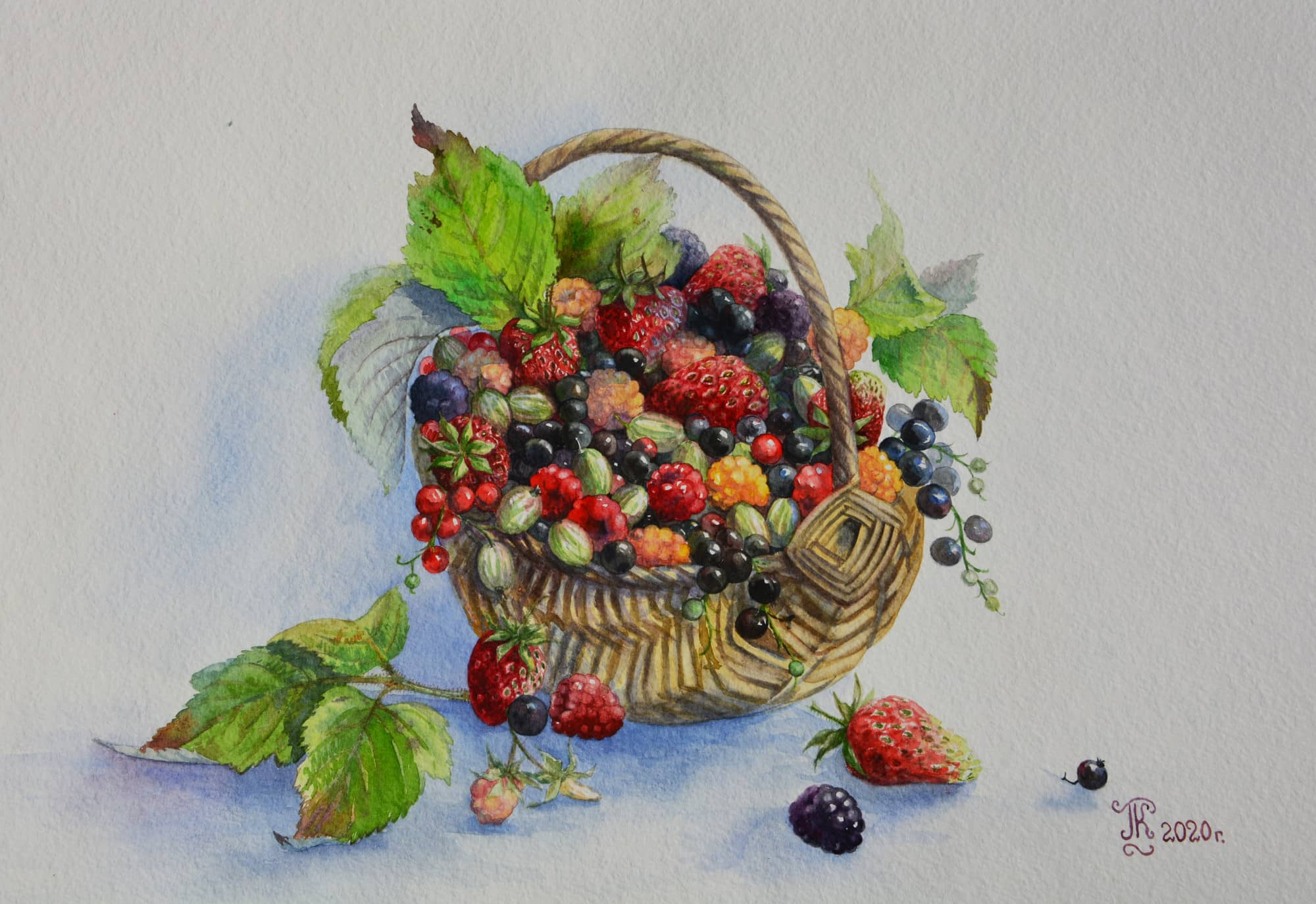 Корзиночка с ягодами