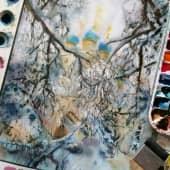Храм Казанской Иконы Божией Матери в Коломенском (1), художник Любовь Титова