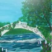 Заброшенный мост (1), художник Юлия