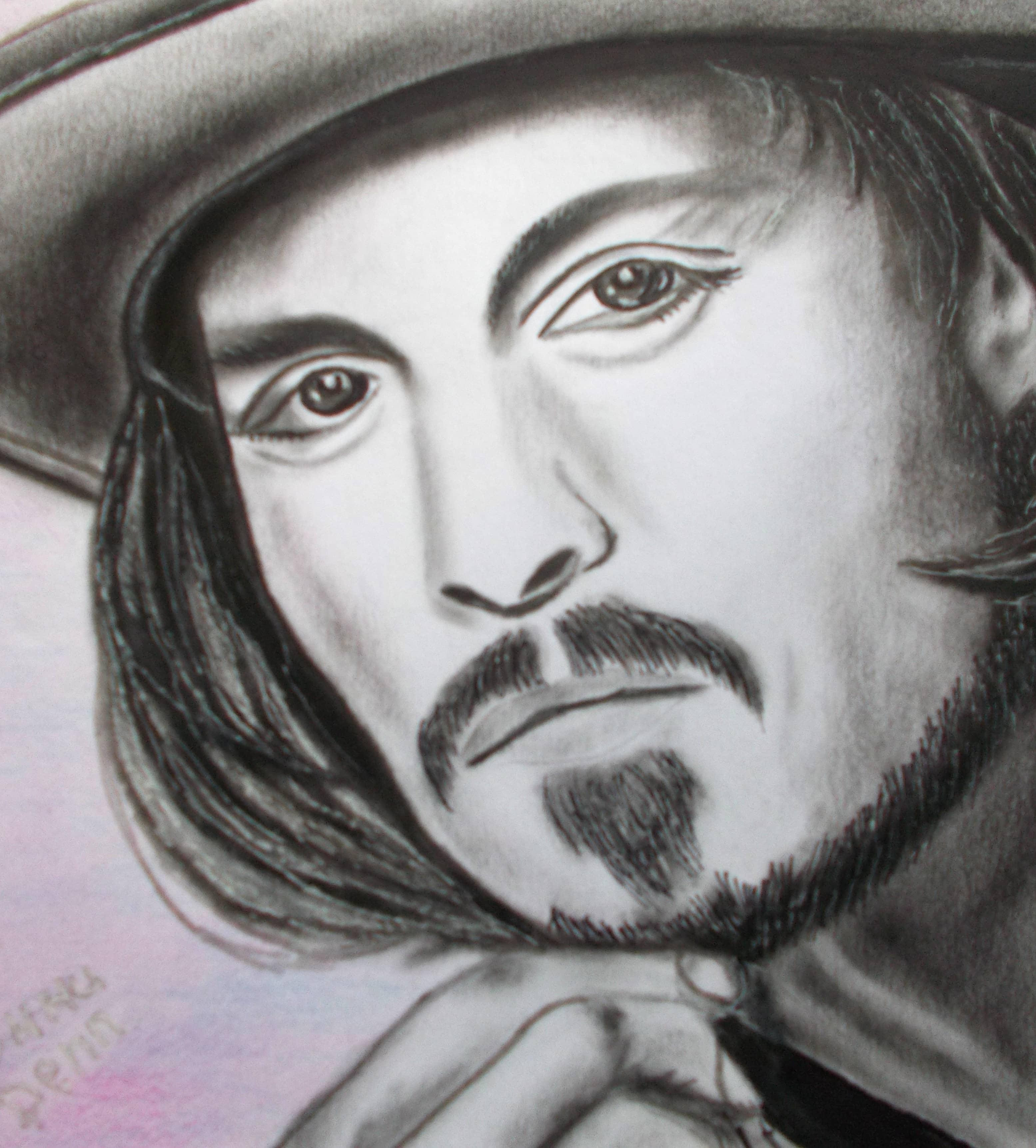 Портрет Джонни Деппа.