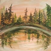 """Озеро"", художник Kerry Moore"
