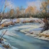 Тает лед, художник Лариса Яркулова