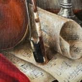 «Сыграй мне, скрипка, нежно о любви...» (4), художник Валерия Азамат