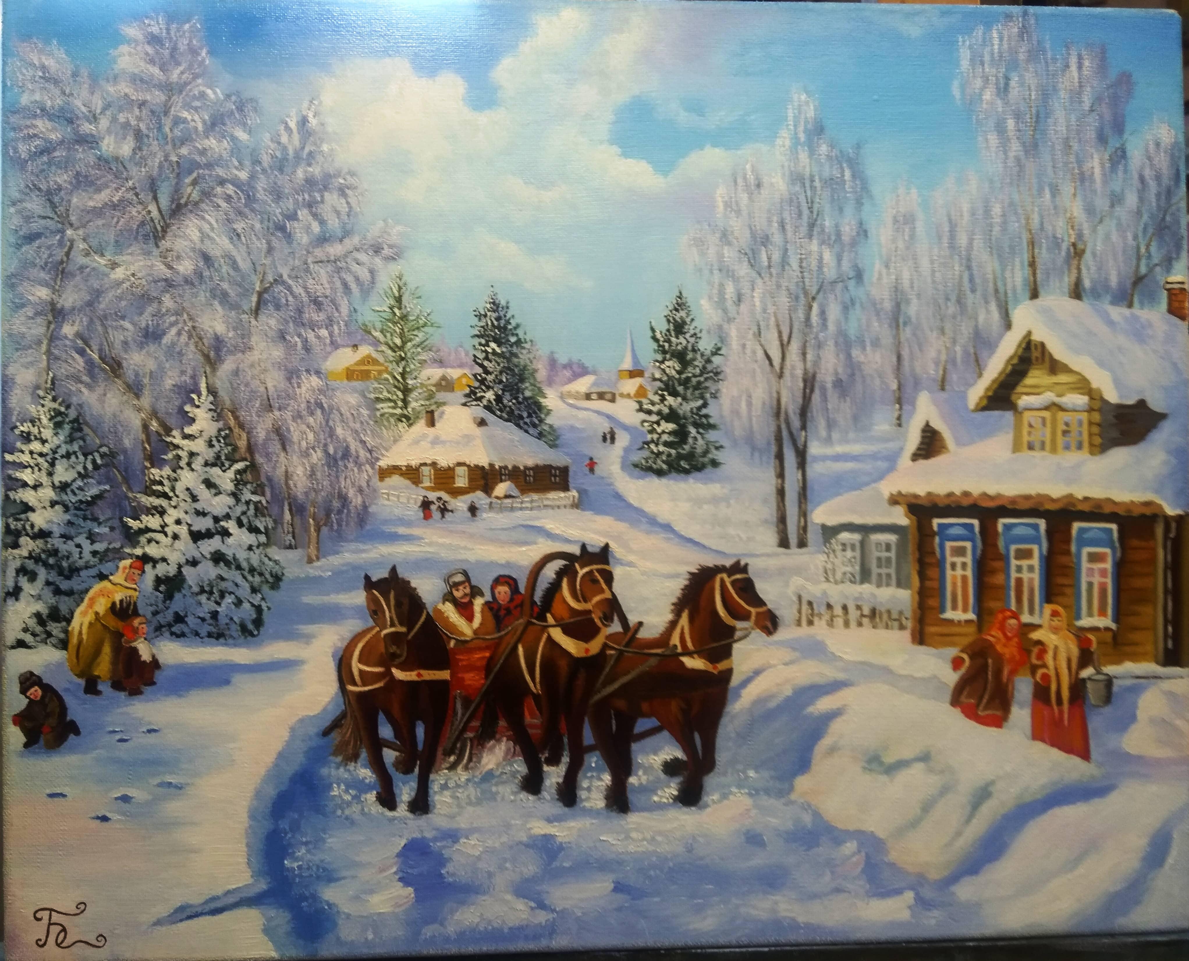 Зима в деревне (По м.р.В.Жданова)