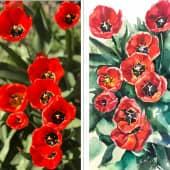 Цветочное настроение (1), художник Анна Профатилова