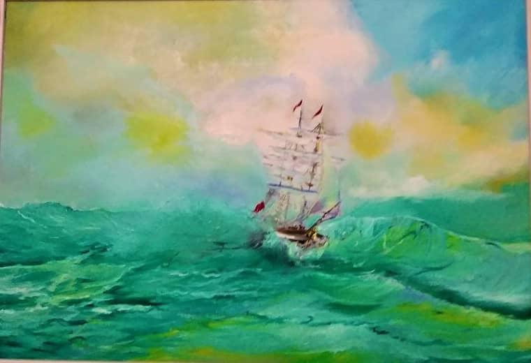 В море!