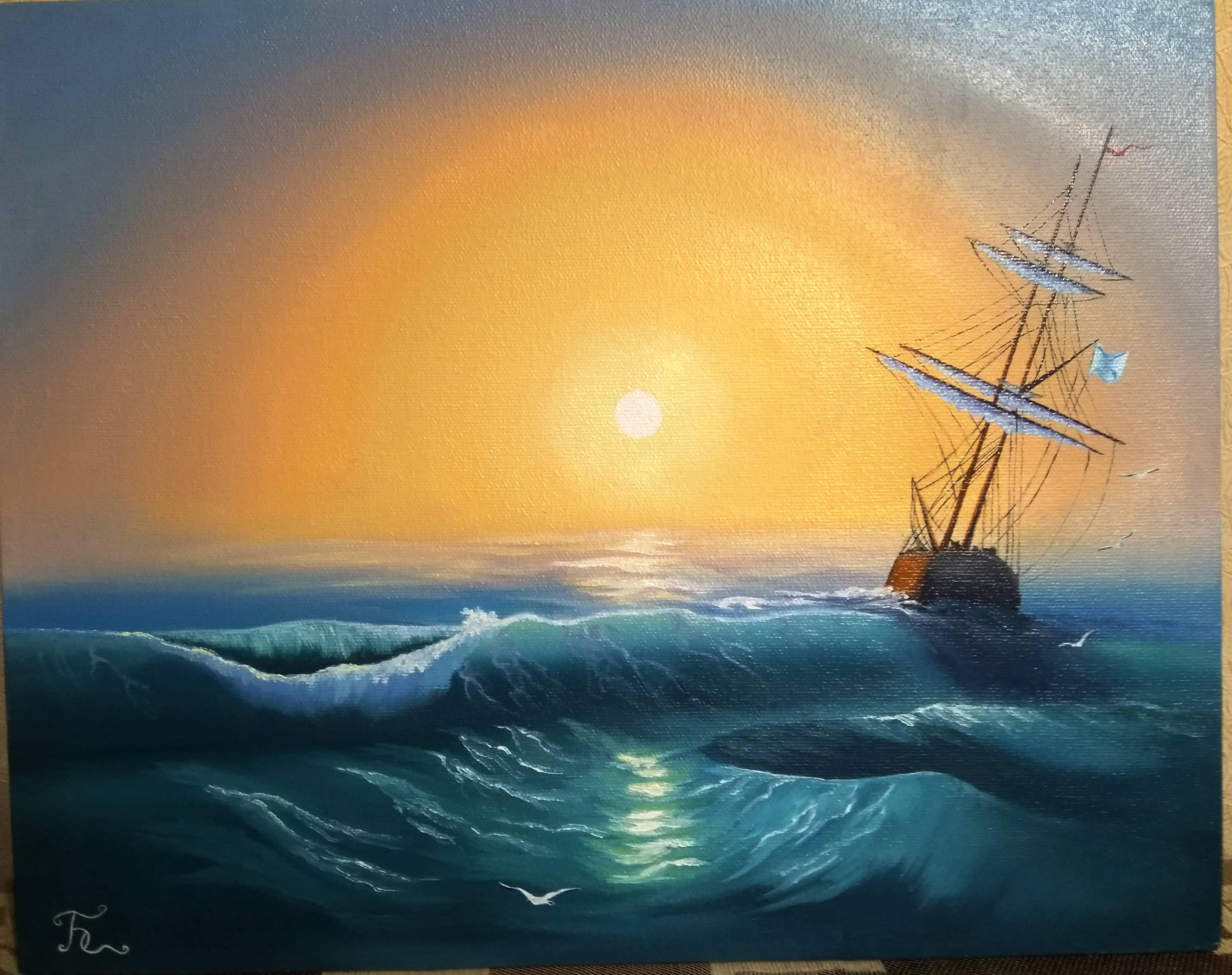 Морской пейзаж, сюжет 2
