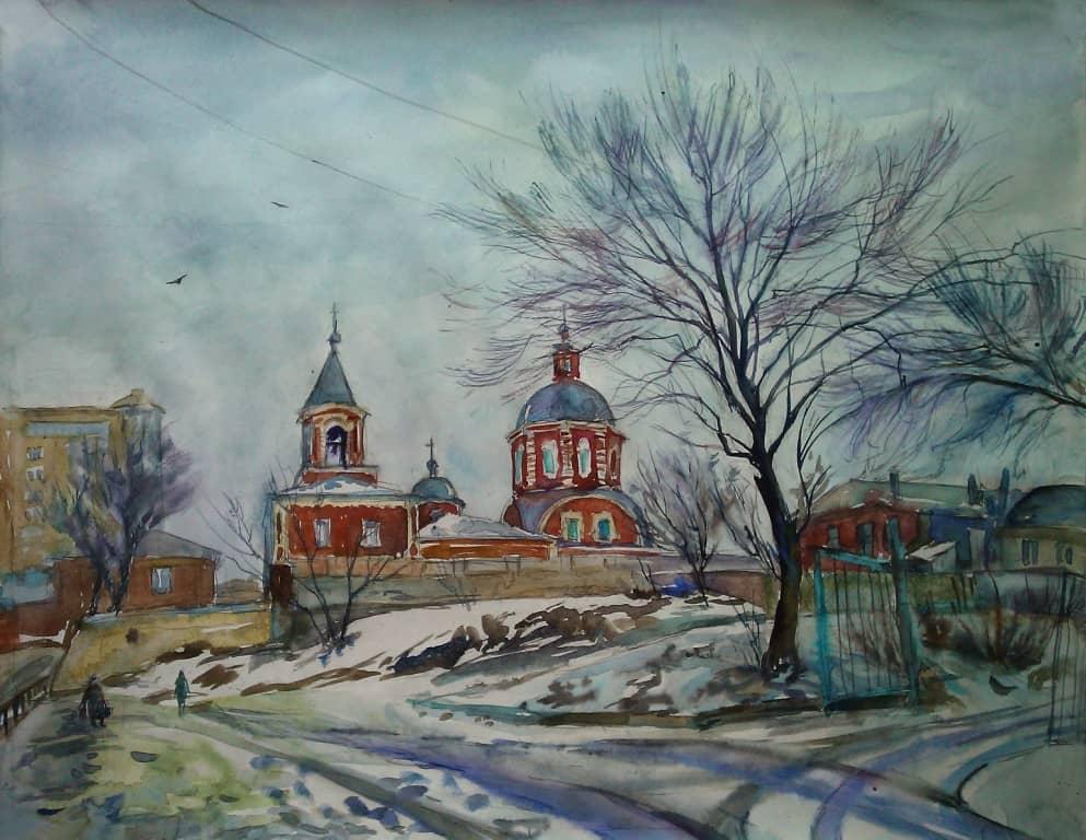 Оттепель. Ильинский храм.