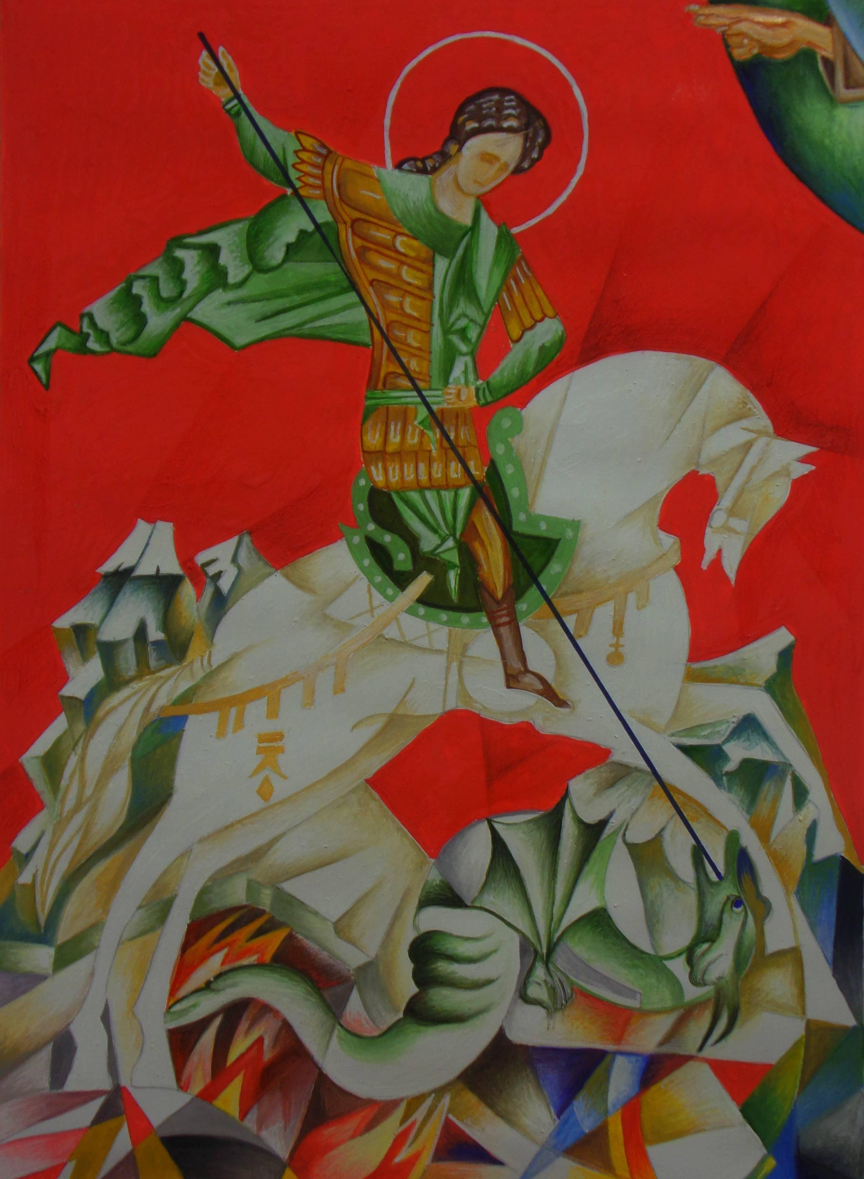 Георгий Победоносец - святой воинов России.