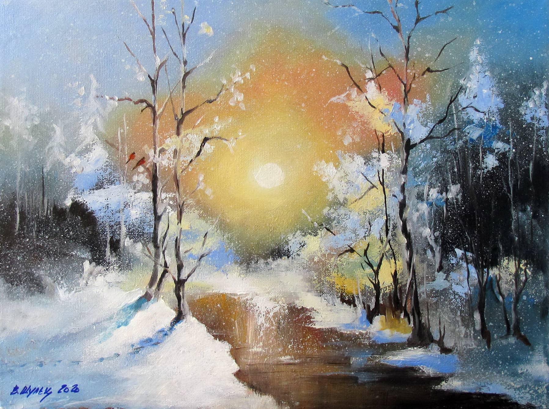 Зимний лес. Утро