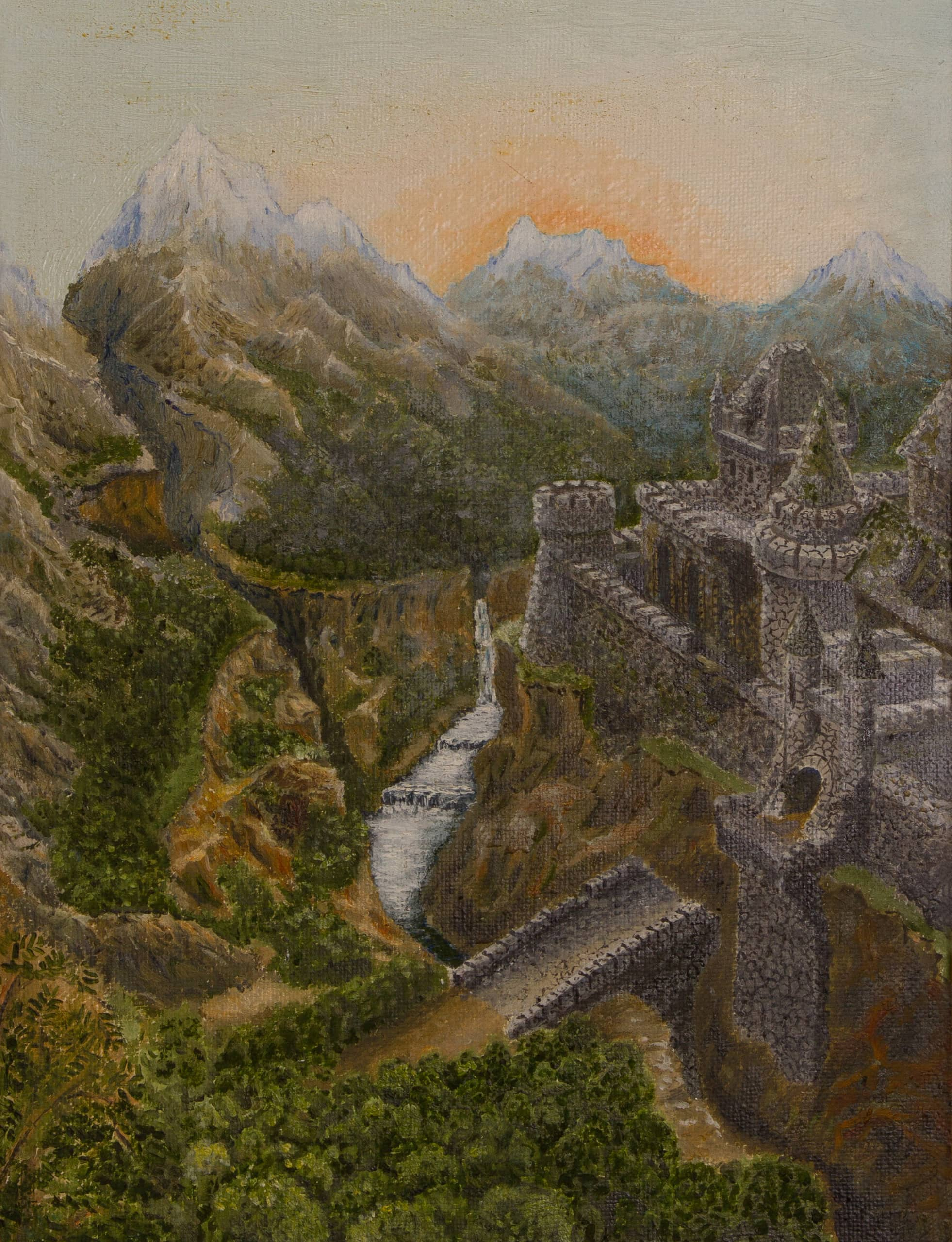Старый заброшенный замок в горах