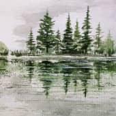 """На речке"" (2), художник Kerry Moore"