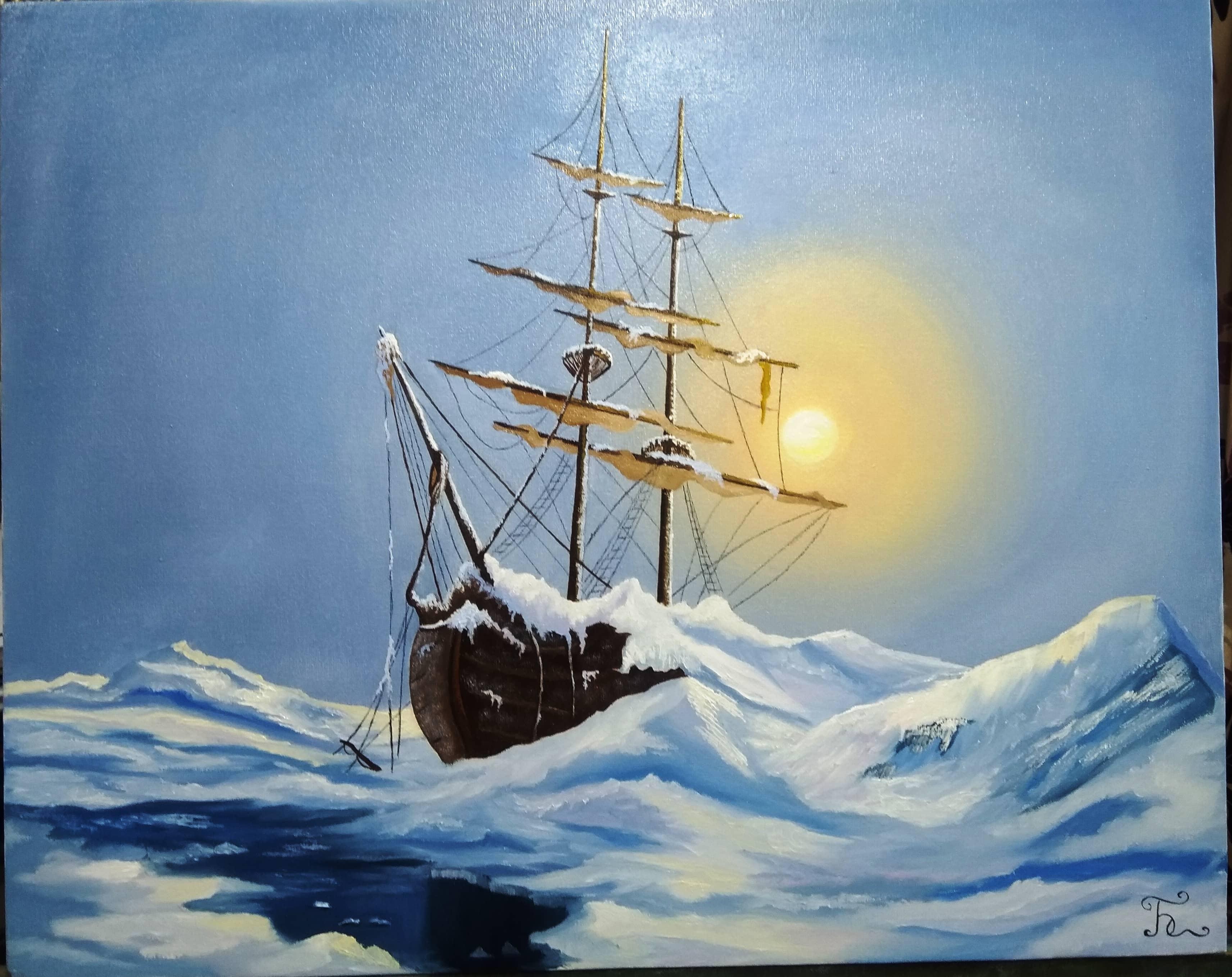 Корабль во льдах (по мот.раб. Марек Ружик)