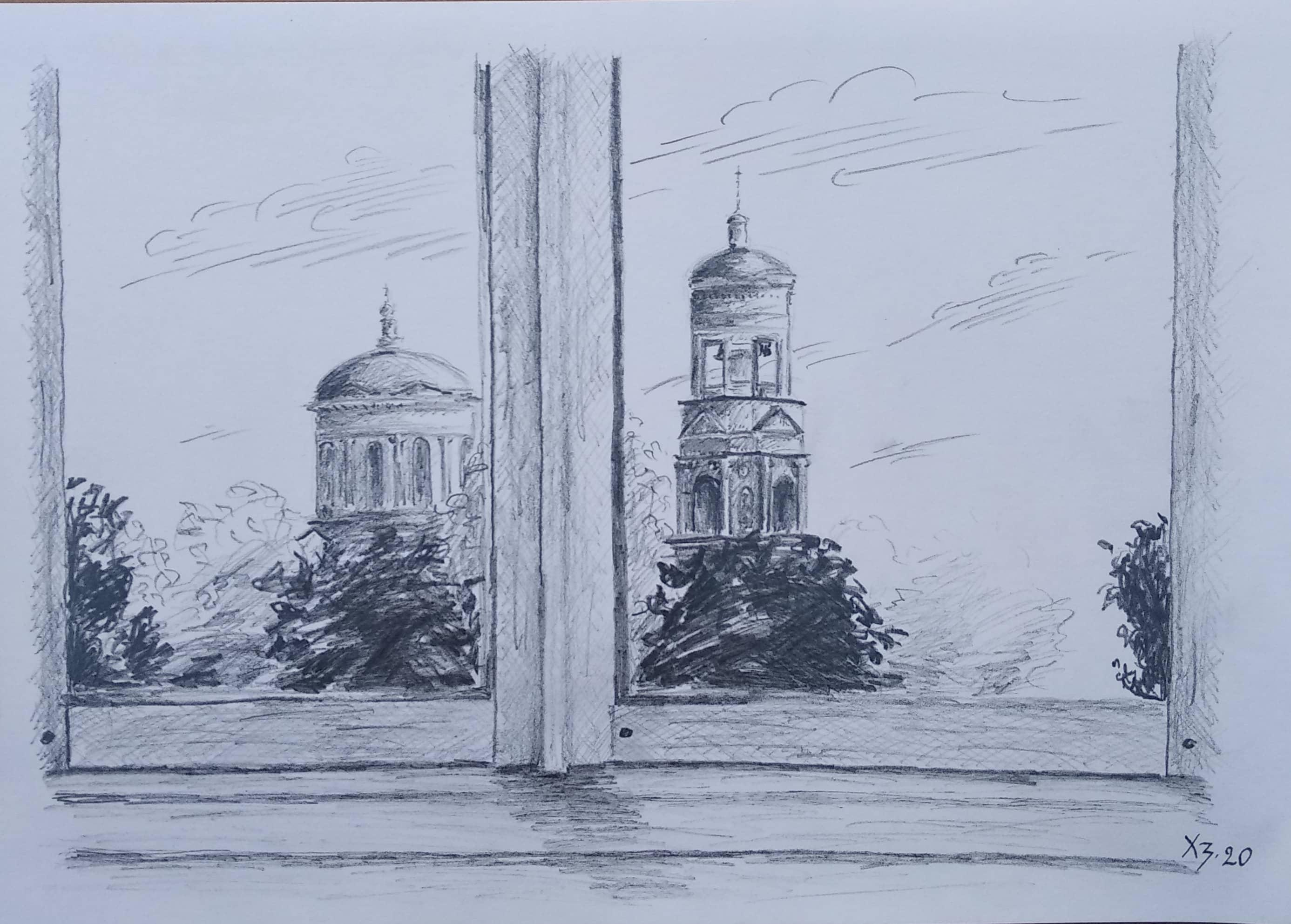Вид на Покровский храм