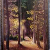 Ночь. Осенняя аллея. (1), художник Татьяна