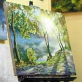 Утро на реке (1), художник Валерий