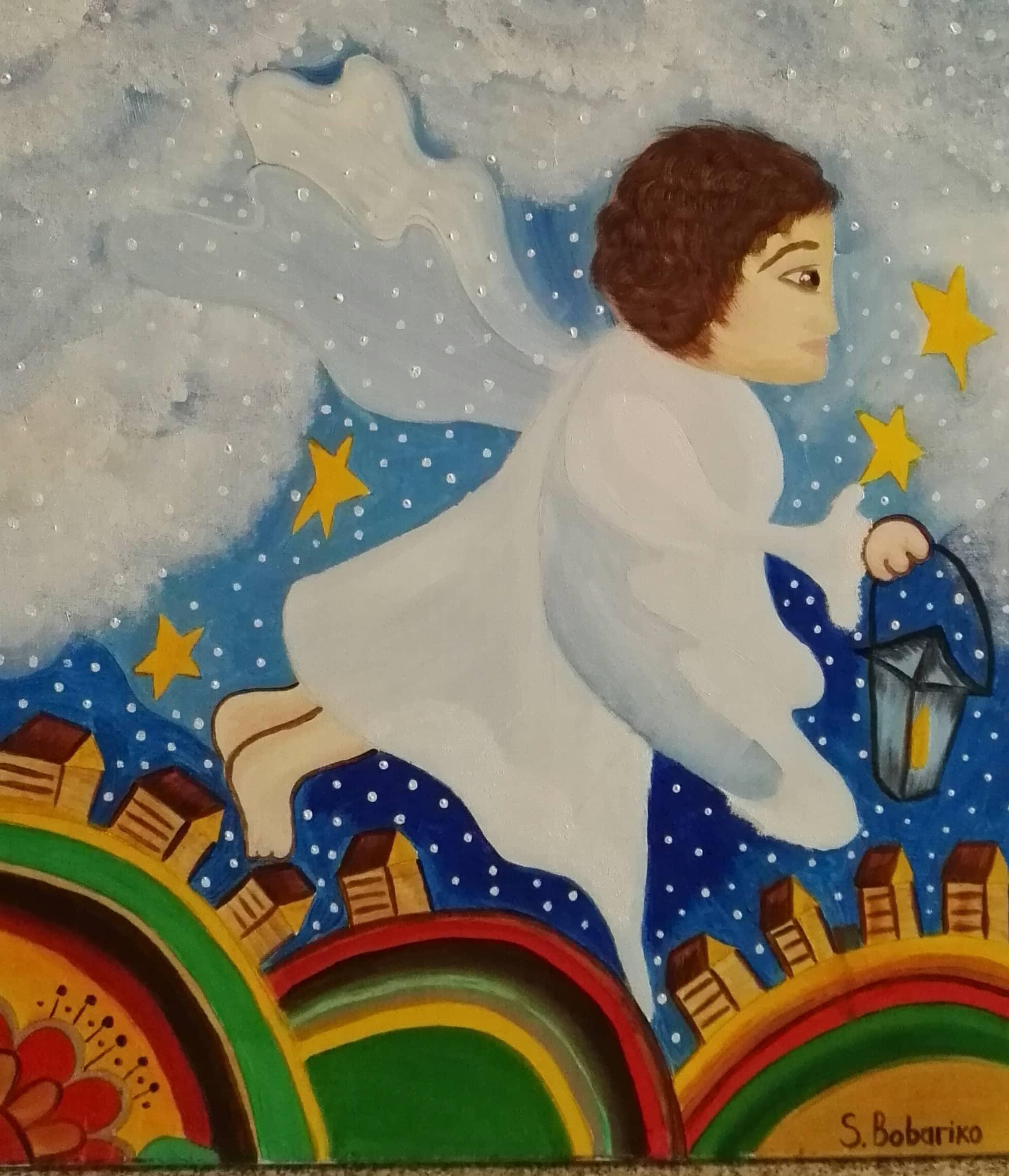 Летящий ангел.