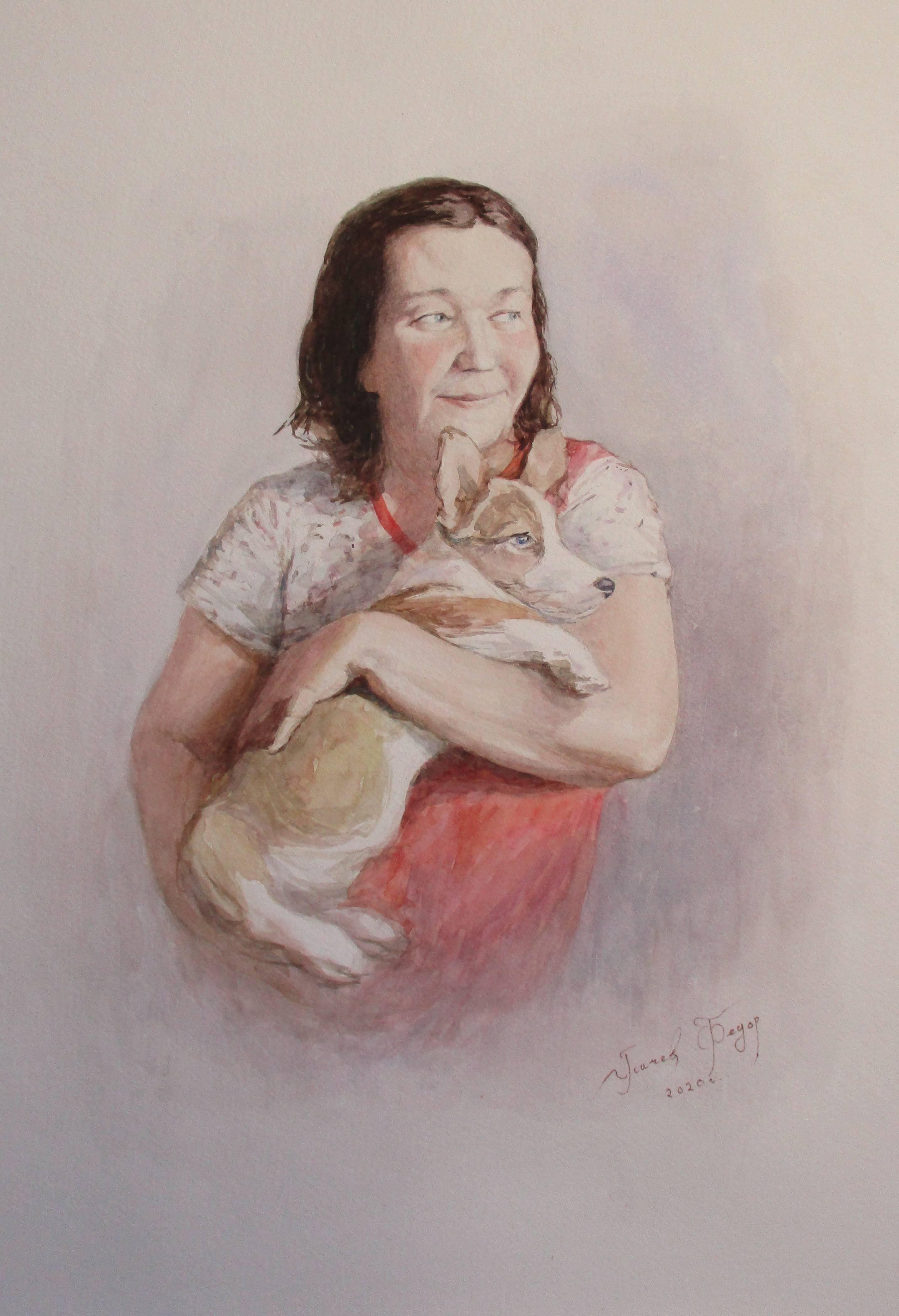Портрет мамы с Вилли