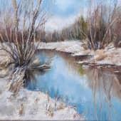 Начало весны, художник Лариса Яркулова