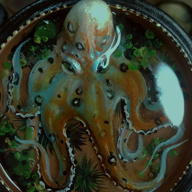осьминожек эпоксидная смола