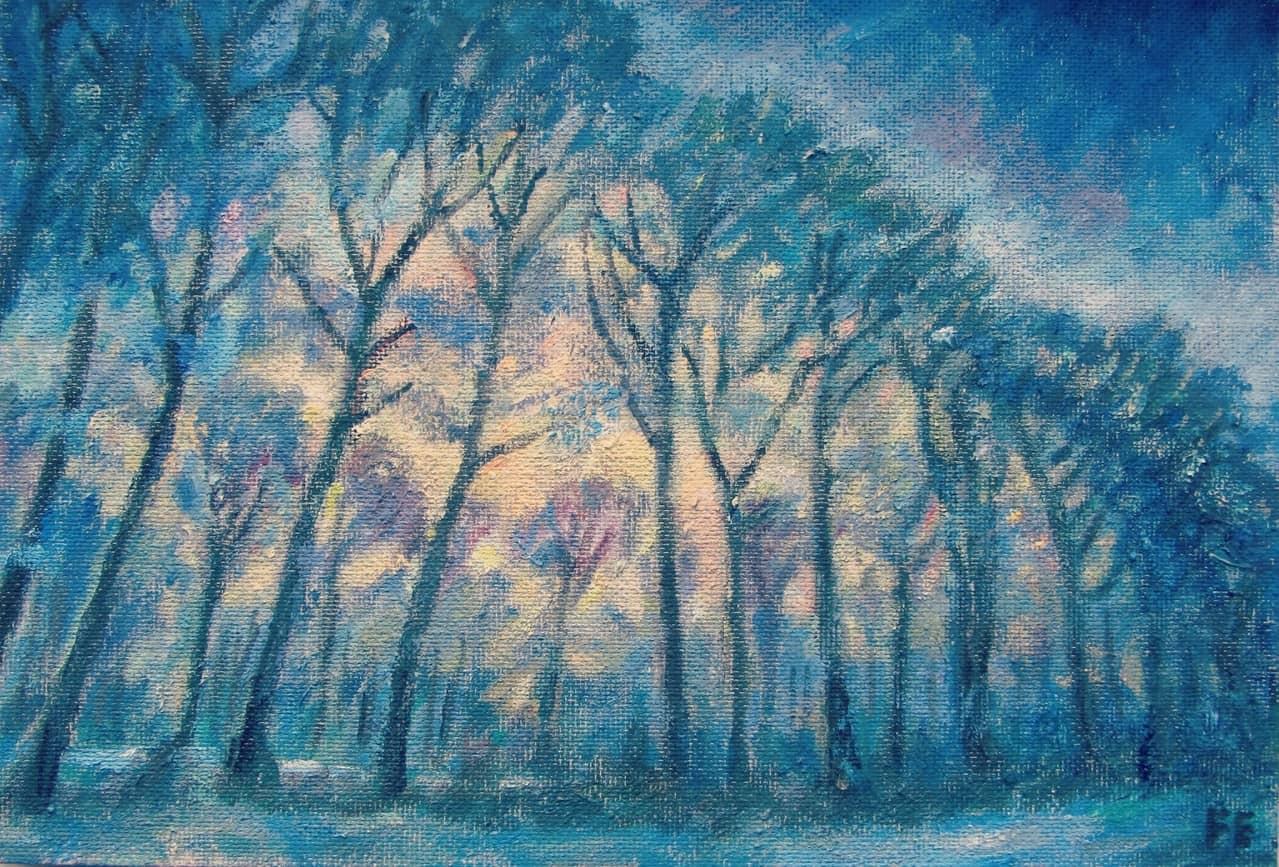 Синие деревья