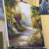 Прогулка по лесу (1), художник Валерий