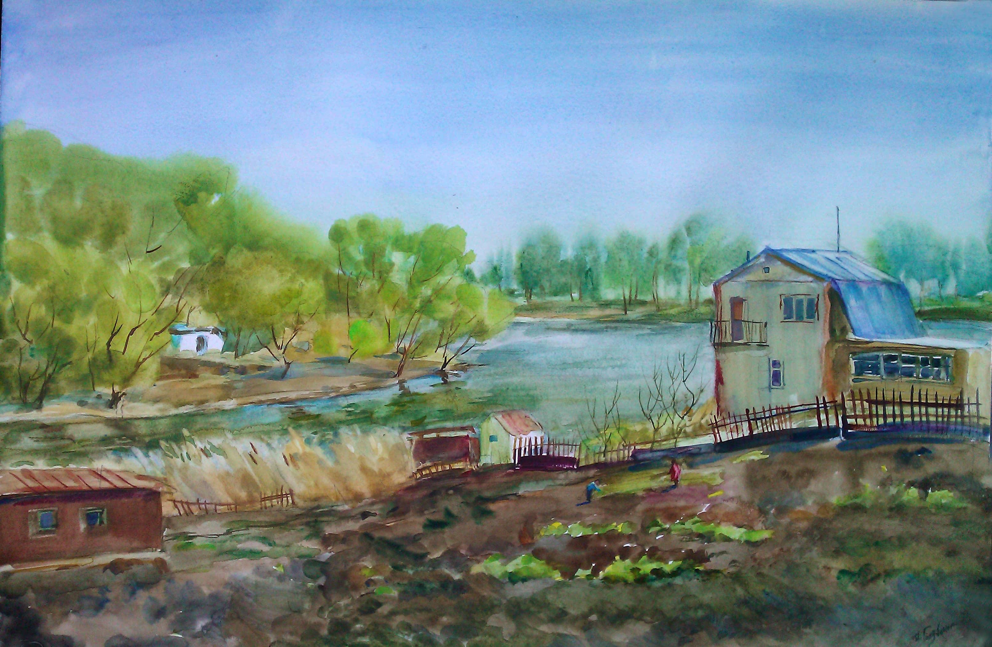 Весна в Рамонском районе.Дачи.