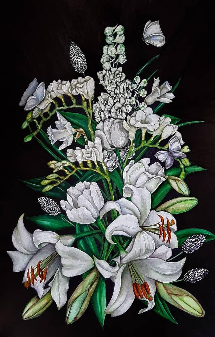 'Белые цветы'