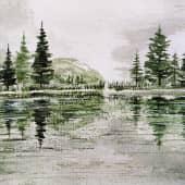 """На речке"", художник Kerry Moore"