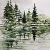 """На речке"" (1), художник Kerry Moore"