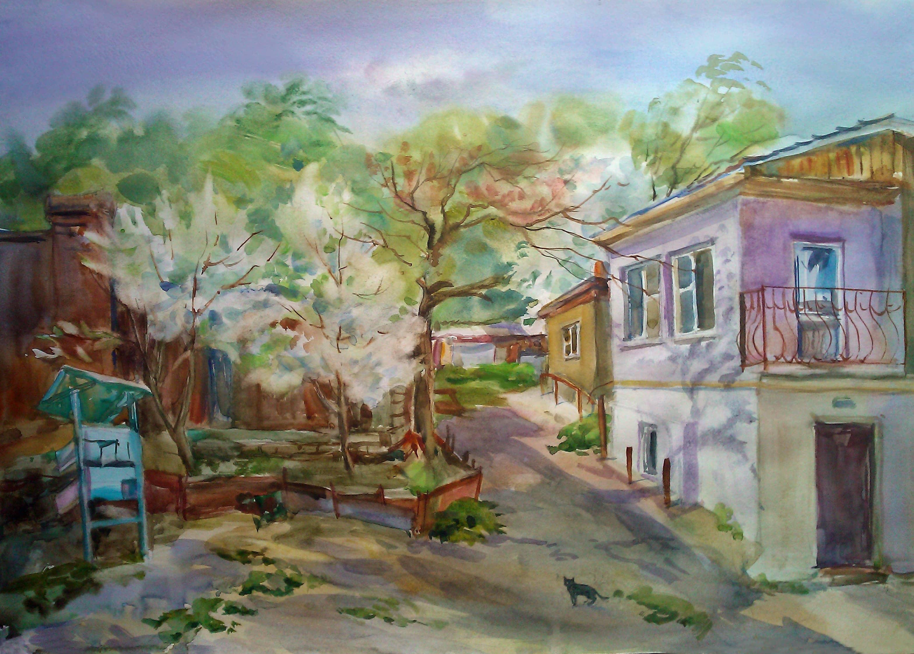 Весна в старом дворике